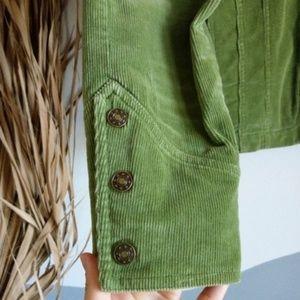 Vintage Jackets & Coats - Western Inspired Vintage Green Corduroy Jacket